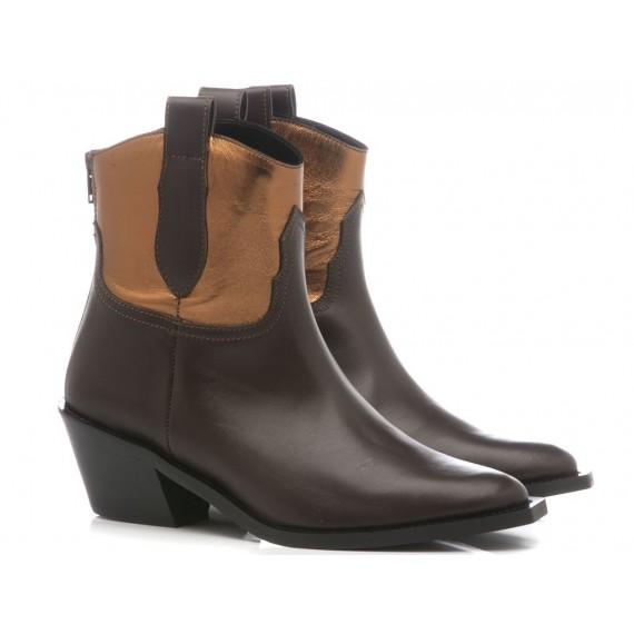 Stephen Good Women's Ankle Boots Leather Brown MA4048