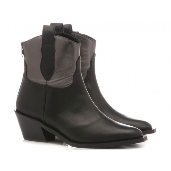 Stephen Good Women's Ankle Boots Leather Black MA4048