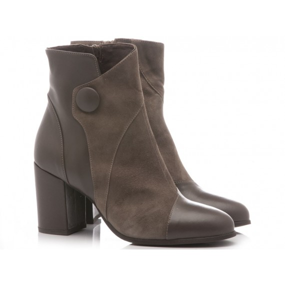 Mariga Women's Ankle Boots Leather Taupe 521