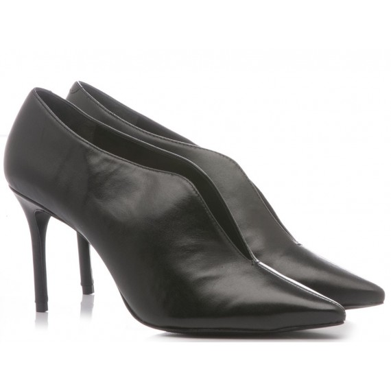 Schutz Women's Shoes-Ankle Boots High Heel Leather Black