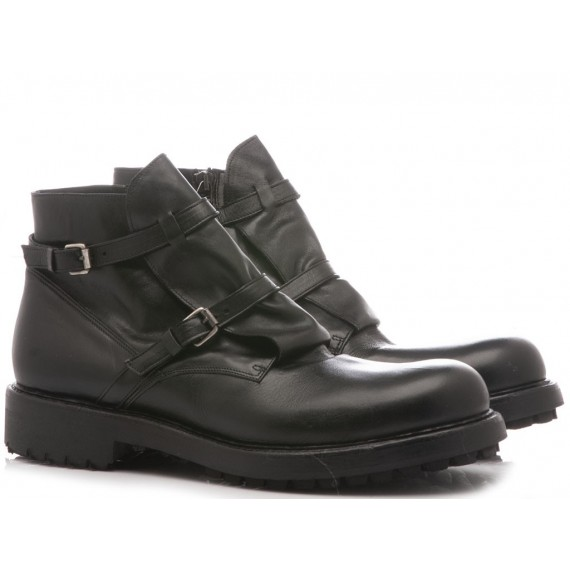 Ernesto Dolani Men's Ankle Boots Leather Black 2549