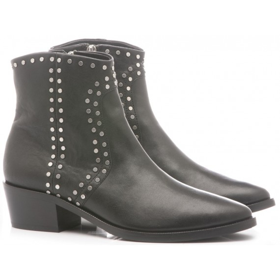 Janet & Janet Women's Ankle Boots Leather Black 42200