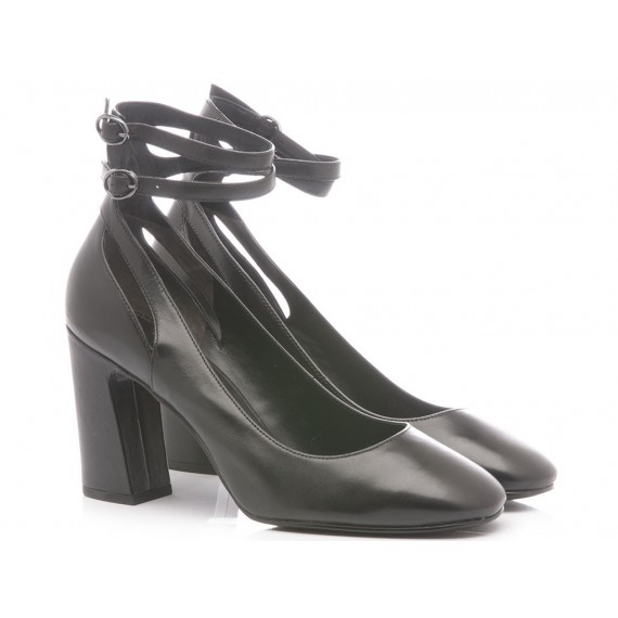 What For Women's Shoes Decollete Leather Black 060