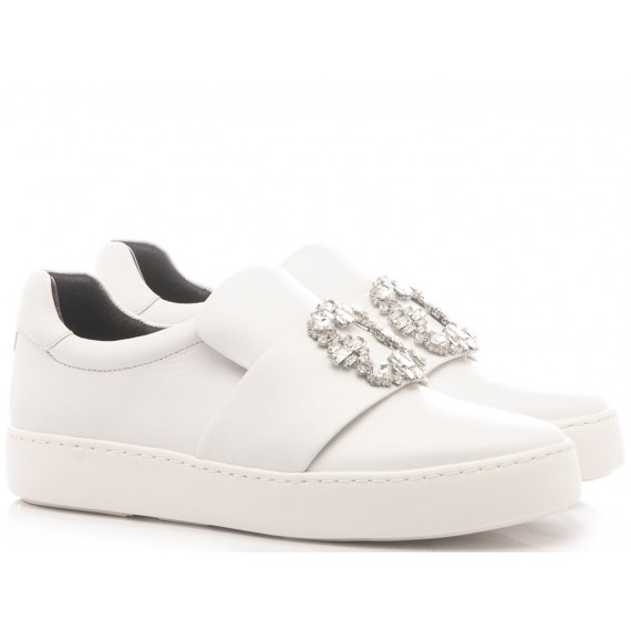 What For Sneakers Donna Pelle Bianco