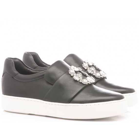 What For Sneakers Donna Pelle Nero