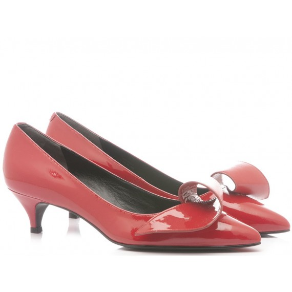 What For Scarpe Decollete Donna Vernice Rosso 321