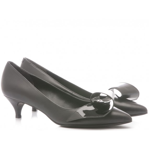 What For Scarpe Decollete Donna Vernice Nero 322