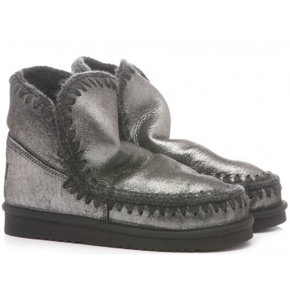 MOU Women's Ankle Boots Lamè Black Suede