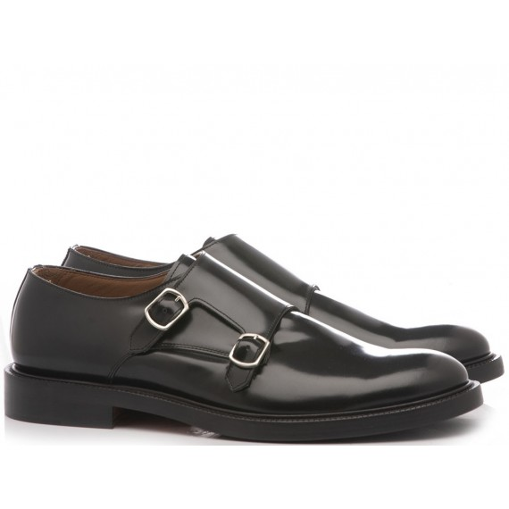 Franco Fedele Men's Classic Shoes Derby Black Leather 6123
