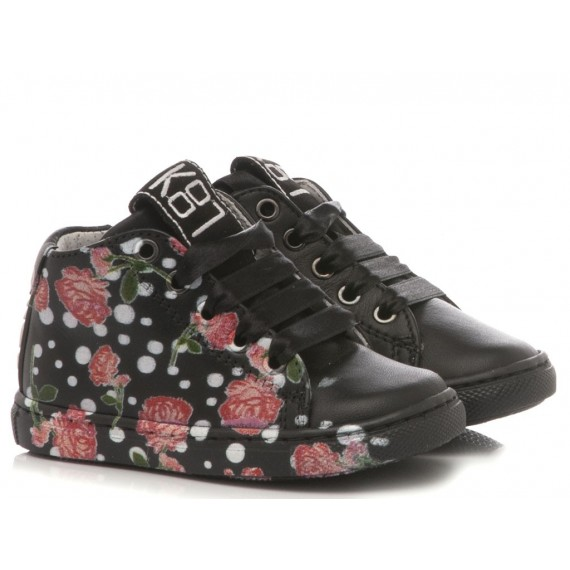 Be Kool Girl's Sneakers Black Leather