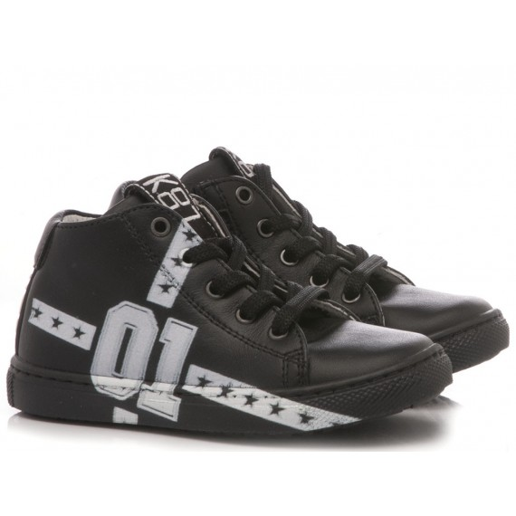 Be Kool Boy's Sneakers Black Leather
