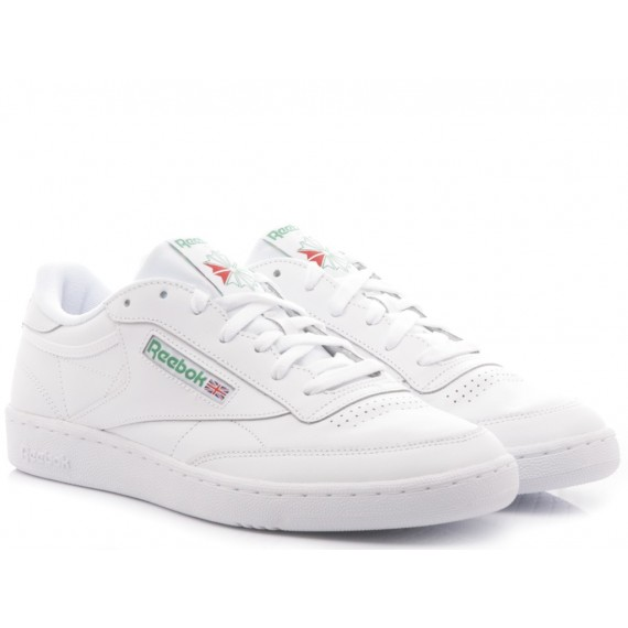 Reebok Sneakers Uomo Club C 85 So Pelle Bianco AR0456