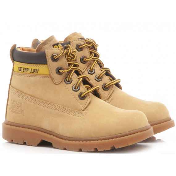 Caterpillar Children's Ankle Boots Leather Honey