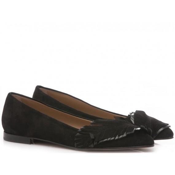 Giacko Women's Ballerina Shoes Suede Black