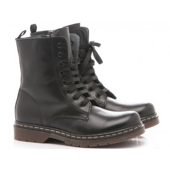 White Shoes Anfibi Bambini Black 1361