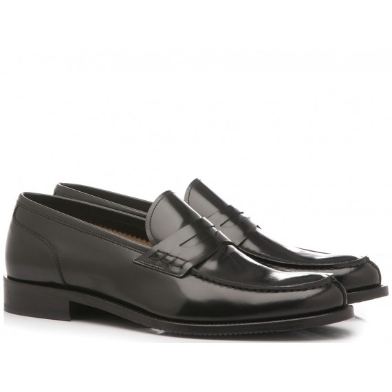 Franco Fedele Men's Shoes Loafers Leather City Black