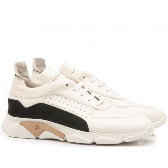Moma Sneakers Uomo Pelle Florence Bianco 12901-IA