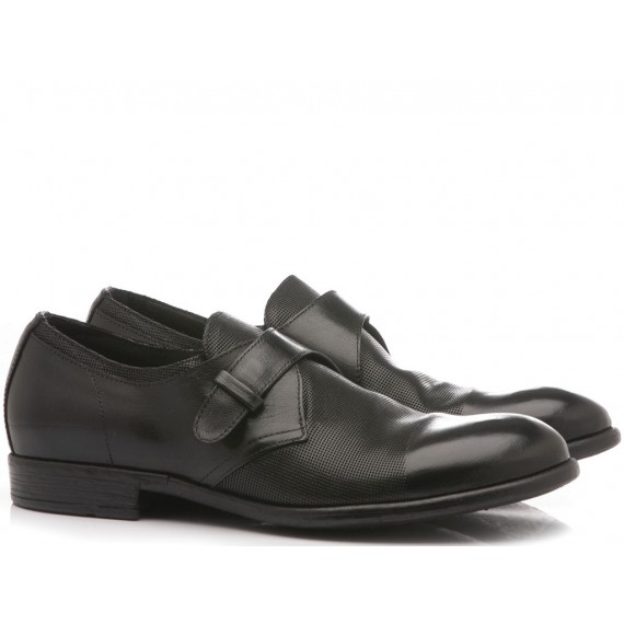 Hundred/100 Men's Classic Shoes Black Leather M087-08