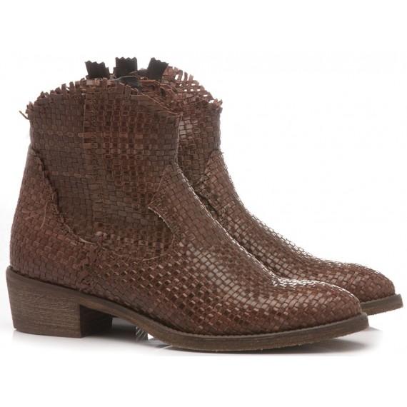 Metisse Women's Ankle Boots CP846 Dark Brown