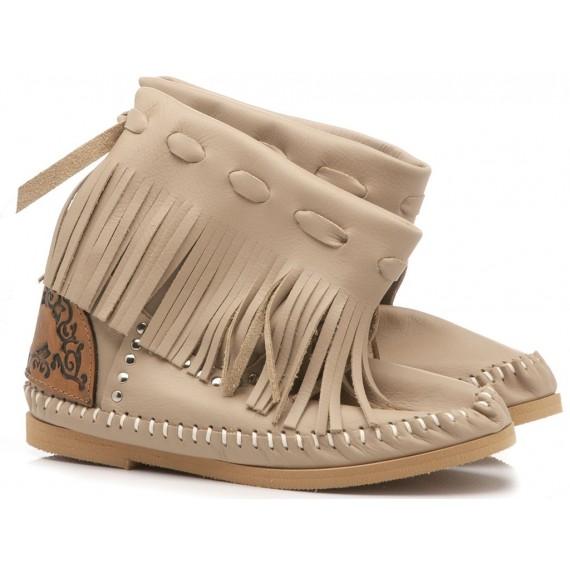 L'Artigiano Di Riccione Women's Ankle Boots P0455-M Sand