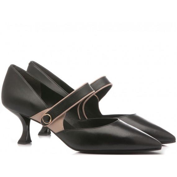 What For Scarpe Donna Pelle Nero