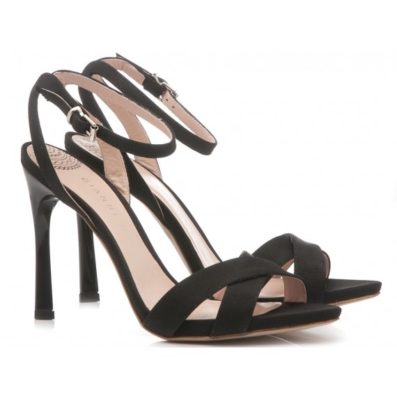 Gianni Marra Women's Sandals High Heel Leather Black