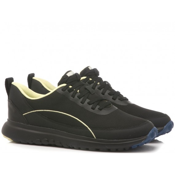 Camper Men's Shoes Leather-Fabric Black