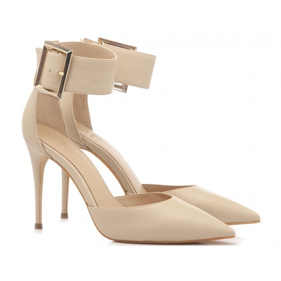 Guess Women's Shoes Decolletè Leather Nude