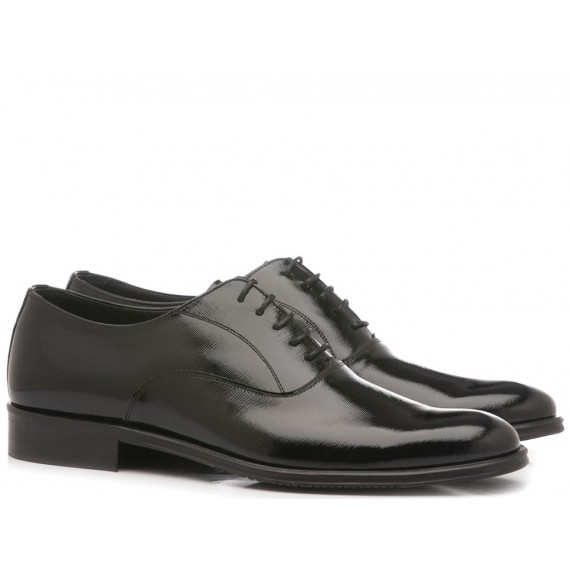 Franco Fedele Men's Classic Shoes Black Leather 6005