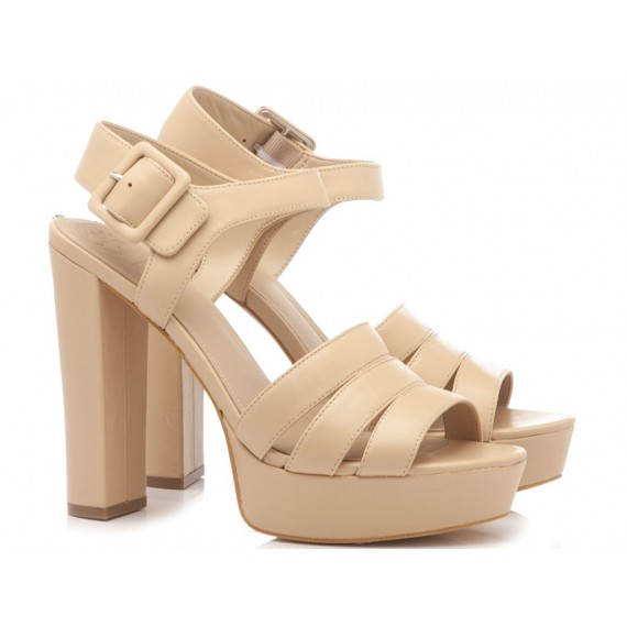 Guess Women's Sandals Leather Nude