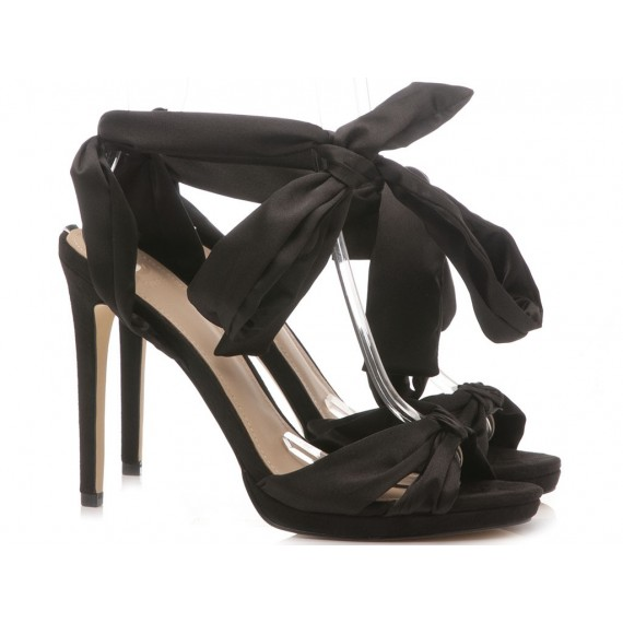 Guess Women's Sandals Satin Black