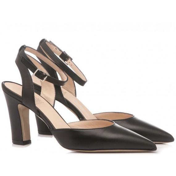 Mivida Women's Shoes Chanel Leather Black 4506