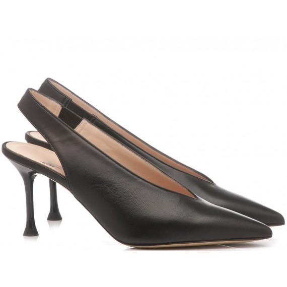 Mivida Women's Shoes Chanel Leather Black 4326