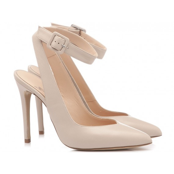 Mivida Women's Shoes Chanel Leather Beige 4402