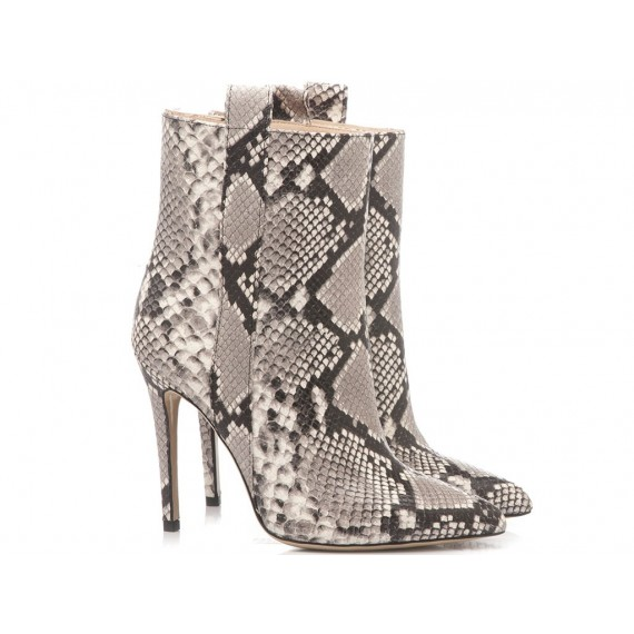 Mivida Women's Ankle Boots Leather Python 4434