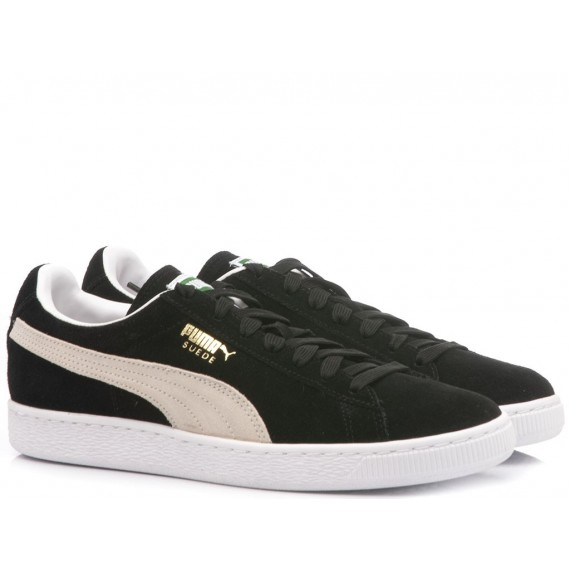Puma Woman's Sneakers Classic Black-White Suede 352634-03