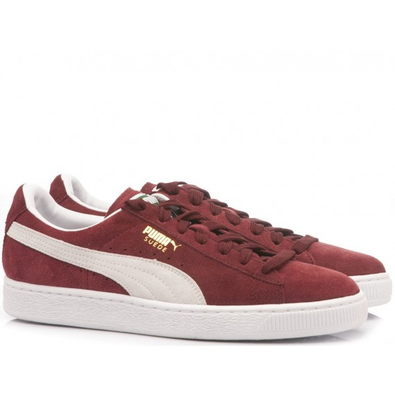 Puma Woman's Sneakers Classic Cabernet-White Suede 352634-75