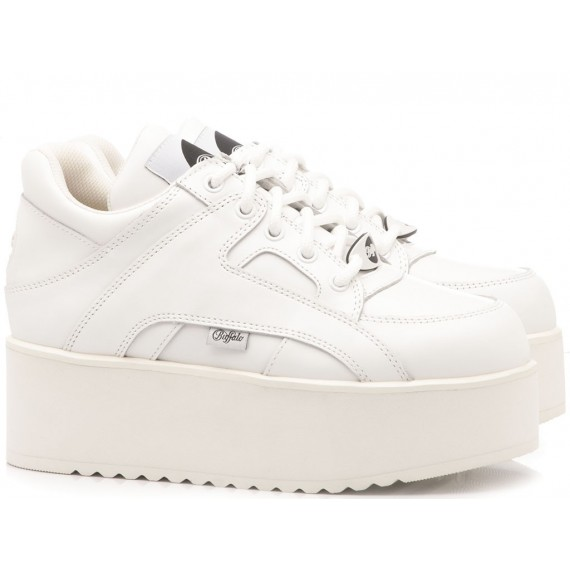 Buffalo London Sneakers Donna Nappa White