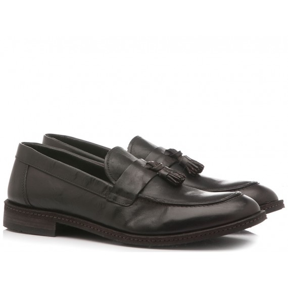 Pawelk's Men's Shoes Loafers 19019 Brown