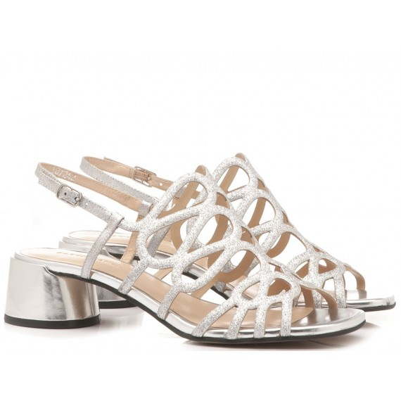 Elvio Zanon Women's Sandals EJ4601N Silver