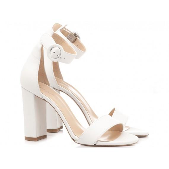 Les Autres Sandali Donna Pelle Bianco 1005