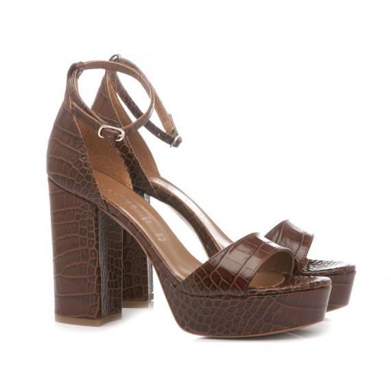Les Autres Sandali Donna Pelle Choco 5001