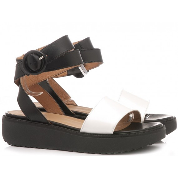Janet Sport Women's Shoes-Sandals Black-White 43903