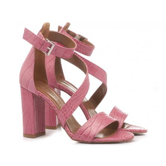 Les Autres Women's Shoes Leather Fuxia 1006