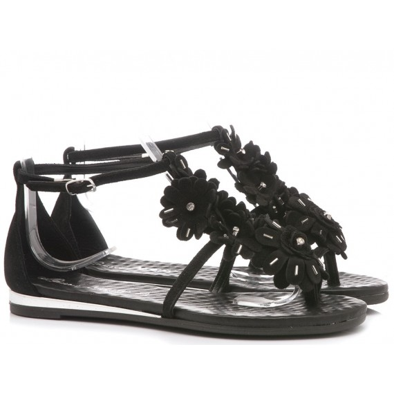 Laura Bizzarri Women's Sandal Leather Black 53170