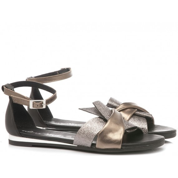 Laura Bizzarri Women's Sandal Leather Silver 53003