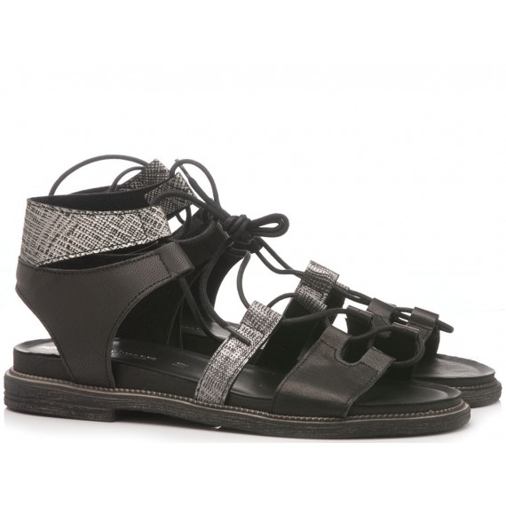 Laura Bizzarri Women's Sandal Leather Black 90814