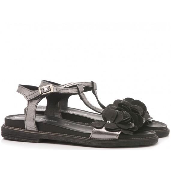 Laura Bizzarri Women's Sandal Leather Black 90062