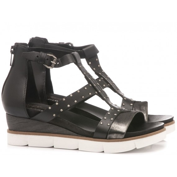 Cuir Veau Women's Sandals 866007 Black