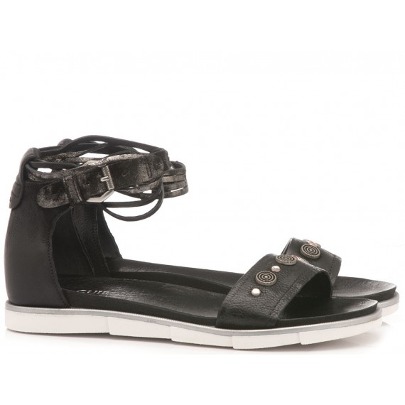 Cuir Veau Women's Sandals 740024 Black